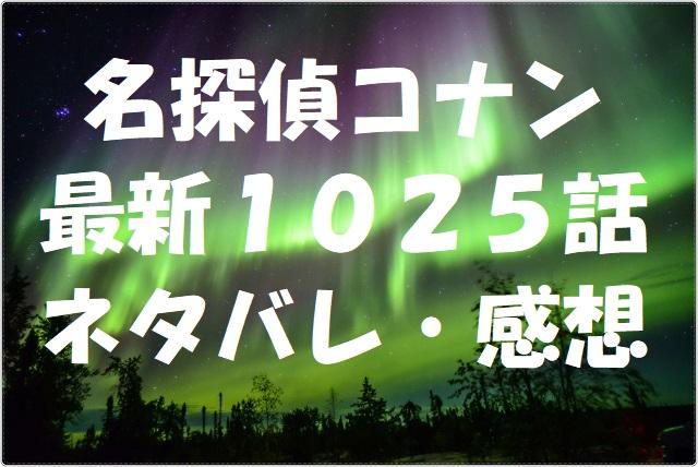 名探偵コナン最新1025話ネタバレ・感想!